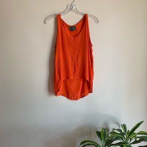 Anthro Sunday in Brooklyn 100% Silk Orange Tank